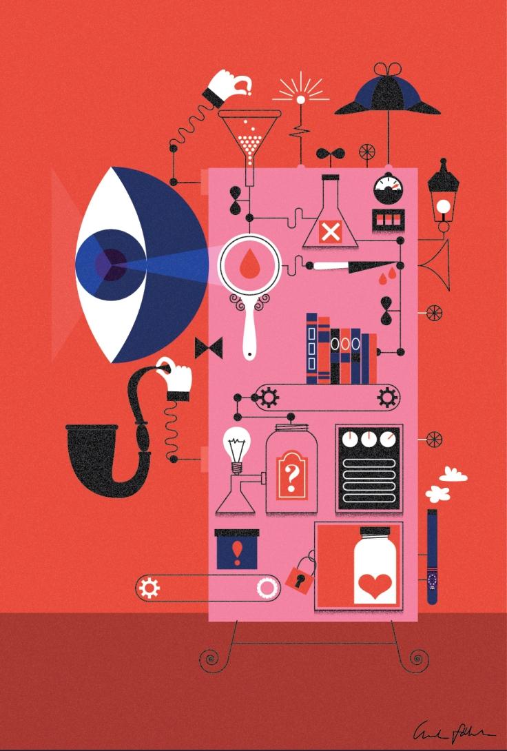 Sherlock Holmes book illustration Linda Fahrlin