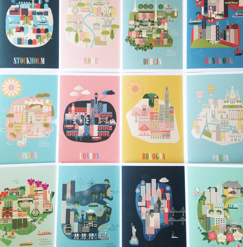City-prints-illustration-by-Linda-Fahrlin